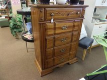 NICE WOOD DRESSER - 5 DRAWER in Cherry Point, North Carolina