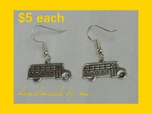 School Bus Earrings in Fort Benning, Georgia