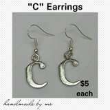 """C"" Earrings in Fort Benning, Georgia"