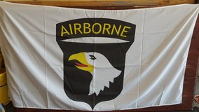 Airborne Logo Flag in Fort Campbell, Kentucky