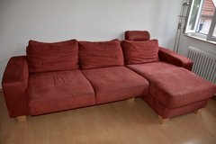Nice red couch - German Quality in Stuttgart, GE