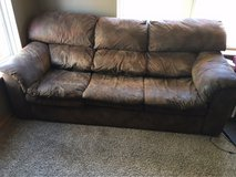 brown couch in Morris, Illinois