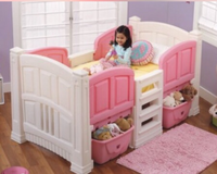 Pink twin size loft bed in Fort Knox, Kentucky