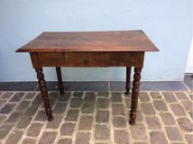sweet little solid antique wood table from France in Ramstein, Germany