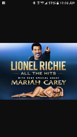 Mariah Carey and  Lionel Richie in Naperville, Illinois