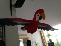 Wooden parrot room decoration in Ramstein, Germany