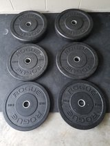 Rogue Fitness Echo Bumper plate set -160 lbs in Cherry Point, North Carolina