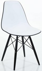 Eames Style Plastic Eiffel Chair With Wood Legs - 8 Colors in Los Angeles, California