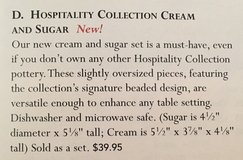 Southern Living at Home Hospitality Cream and Sugar in Kingwood, Texas