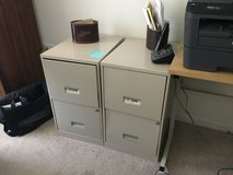 Two metal filing cabinets in Naperville, Illinois