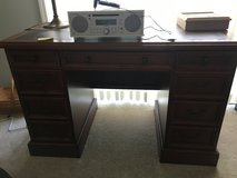 Leather top executive desk in Glendale Heights, Illinois