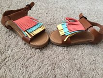 Leather Girl Sandals- Never worn in Fort Campbell, Kentucky