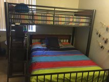 Bunk bed with attached desk and full size bed in Temecula, California