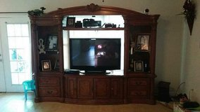 German entertainment center and 55 inch t.v. in Tacoma, Washington