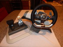 Xbox 360 Steering Wheel + Pedals in Fort Campbell, Kentucky