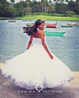 Tulle Wedding Dress with Beaded Halter Bodice in Kissimmee, Florida