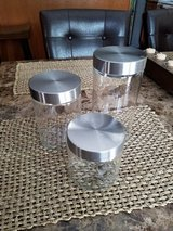 3 Glass Storage Containers w/ Stainless Steel Lids in Fort Campbell, Kentucky