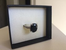 2 Carat Real Dark Blue Sapphire Ring 14k WG in 29 Palms, California