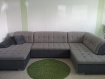 big grey couch with pull out bed in Ramstein, Germany