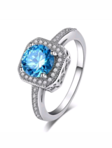 Blue/Clear crystal 18K GF over 925 Sterling Silver ring! in Lawton, Oklahoma