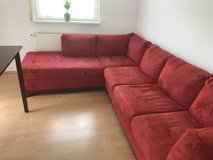 Red couch in Stuttgart, GE