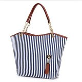 Navy White Canvas Beach Tote Purse Bag New in Naperville, Illinois