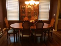 "Drexel Heritage Dining Room Set - 103"" Table 2 Lvs, Chairs, China Cabinet Ex Cond in DeKalb, Illinois"