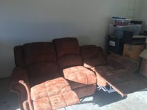 Brown Reclining Couch in Fairfield, California