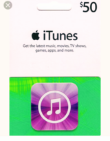 iTunes $50 gift card in Perry, Georgia