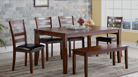 "SALE! 40-50% OFF RETAIL!! ""URBANO"" COLLECTION 7PC DARK SOLID HEAVY WOOD DINING SET!! in Camp Pendleton, California"