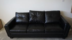 Black leather couch in awesome condition in 29 Palms, California