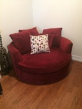 Red Cuddle Chair / Round Couch in San Diego, California