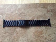 Blue Stainless Steel Apple Watch band 38mm in Fort Campbell, Kentucky