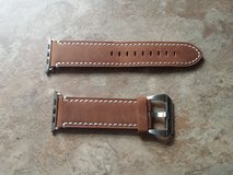Brown Genuine Leather Apple Watch band. 52mm in Fort Campbell, Kentucky
