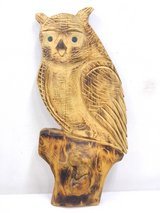Large Wooden Handcarved Owl height 28 inch. in Wiesbaden, GE