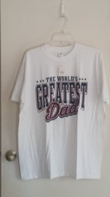 "New with tags!  White ""World's Greatest Dad"" T-shirt in Chicago, Illinois"