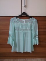 mint blue blouse with lace in Baumholder, GE