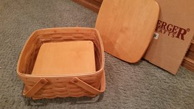 Longaberger Cake Basket with Protector, Lid and Pie Shelf in Orland Park, Illinois