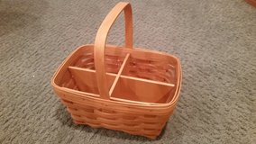 Longaberger Spring Basket with Protector and Divider in Chicago, Illinois
