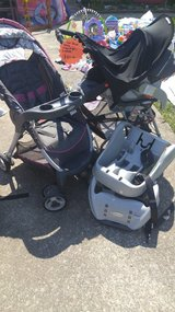 car seat with snap and go and stroller in Fort Campbell, Kentucky