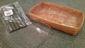 Longaberger Serving Tray, Regular and Divided Protector and Liner in Orland Park, Illinois