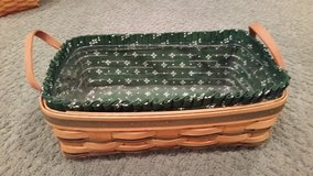 Longaberger Green Stripe Pantry Basket in Westmont, Illinois