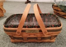 Longaberger Holiday Cheer Basket, Protector and Liner in Glendale Heights, Illinois