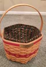Longaberger Snowflake Baskets Protector and Liner in Glendale Heights, Illinois