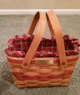 Longaberger Seasons Greetings Basket, Protector and Liner in Glendale Heights, Illinois