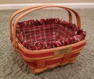 Longaberger Bayberry Basket, Protector and Liner in Glendale Heights, Illinois