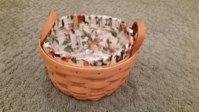 Longaberger Button Basket, Liner and Protector in Glendale Heights, Illinois