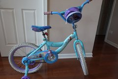 "Kid Bike Disney Frozen 18"" Bicycle (with removable training wheels) in Batavia, Illinois"
