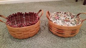 Longaberger Darning Baskets-, Protectors and Liners in Glendale Heights, Illinois