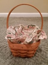 Longaberger Lily of the Valley Basket, Liner and Protector in Wheaton, Illinois